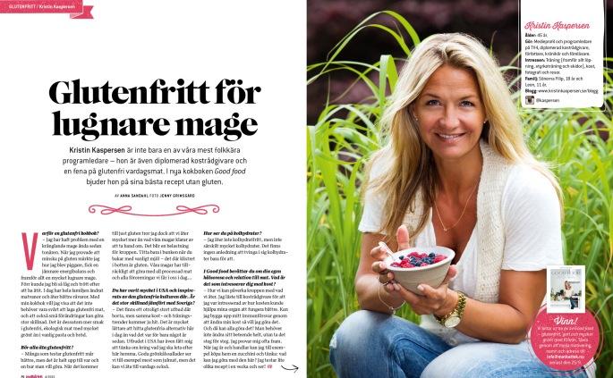 Kristin Kaspersen intervju bok glutenfritt